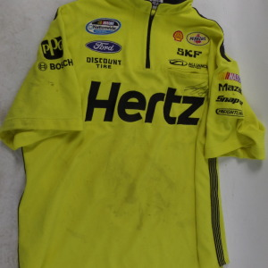 JOEY LOGANO HERTZ NATIONWIDE CREW SHIRT PENSKE RACING LG. AUTO9
