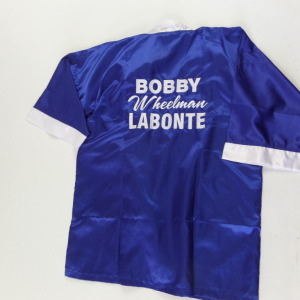 BOBBY LABONTE AUTOGRAPHED BOXING ROBE # bl1