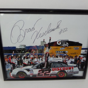 BRAD KESELOWSKI AUTOGRAPHED VICTORY LANE PICTURE # BK27 - Click Image to Close
