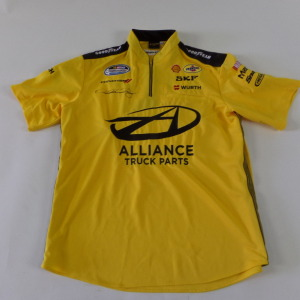 SAM HORNISH JR. AUTOGRAPHED CREW SHIRT # shj4