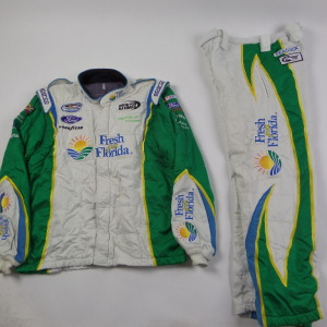 DAKOTA ARMSTRONG 2 PIECE NASCAR RACE USED CREW FIRESUIT U57 - Click Image to Close