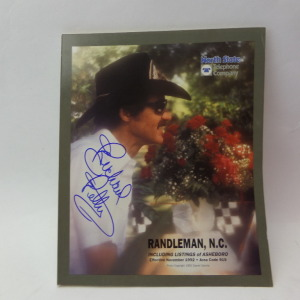 RICHARD PETTY RARE AUTOGRAPHED PHONE BOOK # AUTO5