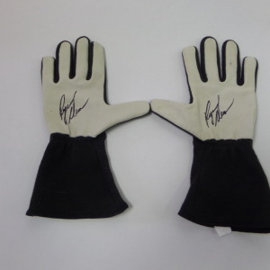 RYAN NEWMAN NON RACE USED SIMPSON AUTOGRAPHED GLOVES # rn4